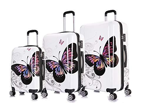InUSA PRINTS Luggage Lightweight Hardside Spinner 3 Piece Set - 20