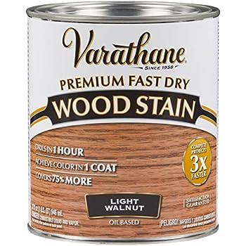 Rust Oleum 260160 Ultimate Wood Stain Quart Light Walnut