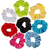 8 Hair Scrunchies/Bobbles / Bands/Holders Set/VAGA Scrunchies for Hair a 8 Color Pack of Hair Scrunchies Hair ties & Ponytail Holder Headbands for Women