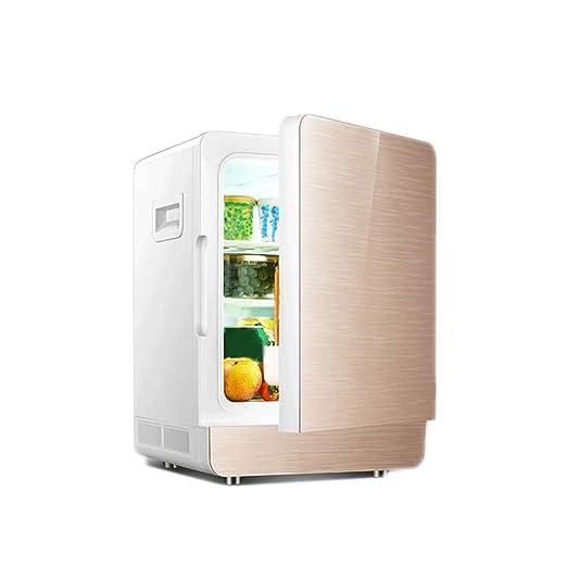 YSBX Mini refrigerador Nevera para Bebidas Refrigerador de Doble ...