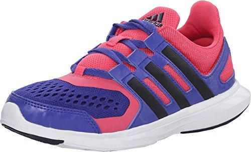 (adidas Kids Girl's Hyperfast 2.0 K (Little Kid/Big Kid) Semi Night Flash/Collegiate avy/Super Pink Athletic Shoe)