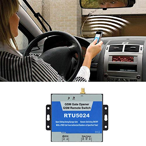cnnIUHA Door Gate Opener Remote On/Off for RTU5024 GSM,Mobile Phone Access Controller Opener Free Call SMS Command Support 850/900/1800/1900MHz,Remote Access Controller Switch