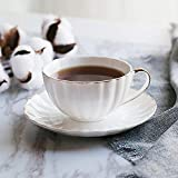 BTaT- Tea Cups and Saucers, Set of 6 (7 oz) with