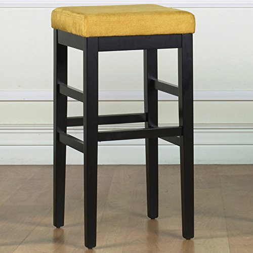 Armen Living Sonata 26-Inch Stationary Barstool, Yellow (26 Inch Stationary Bar Stool)