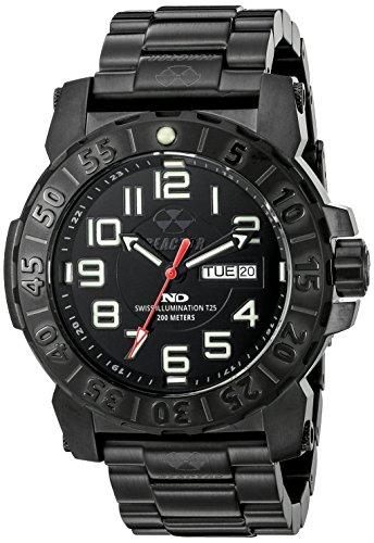- REACTOR Men's 50501 Trident 2 Analog Display Quartz Black Watch