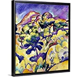 Stylish floating frames made from recycled materials. Patented Design; solid-front construction to prevent sagging and stretching. Pigment-based inkjet printing on high-quality canvas. OBA (optical brightening agent) free. Ready to hang with finished...