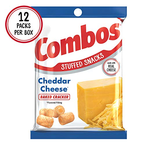 COMBOS Cheddar Cheese Cracker Baked Snacks 6.3-Ounce Bag (Pack of 12) ()