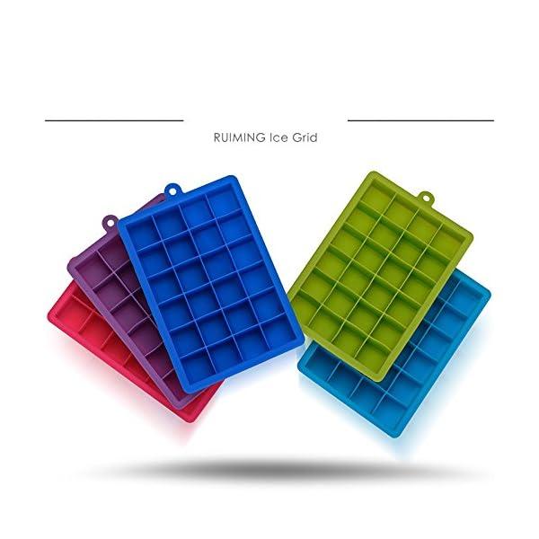OUNONA Stampo per Cubetti di Ghiaccio in Silicone Vaschette da 24 Cubetti Rosa 2 spesavip