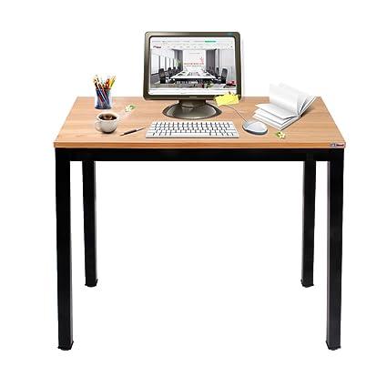 Outstanding Need Small Computer Desk For Homeoffice 31 5 Length Small Writing Desk Gaming Desk Students Laptop Use Teak Color Desktop Black Frame Download Free Architecture Designs Momecebritishbridgeorg