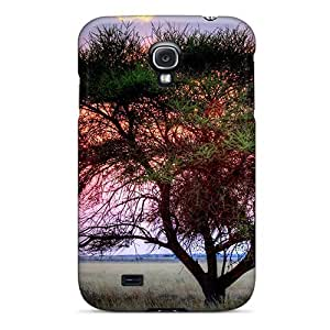 New Fashion Premium Tpu Case Cover For Galaxy S4 - Sunset Over Kalahari