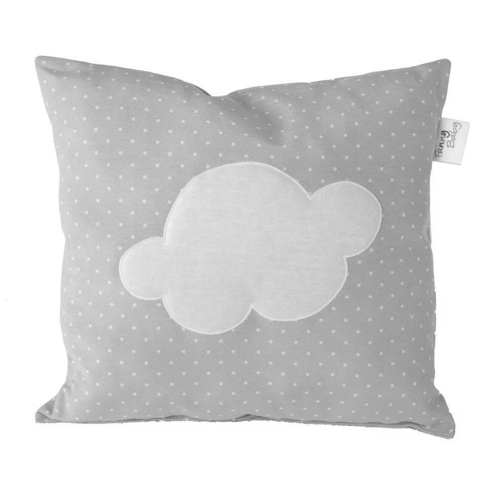 Funny Baby 623059–Coussin décoratif pour lit 35x 35cm, motif Motas et nuage, couleur gris Belino 1000006230592