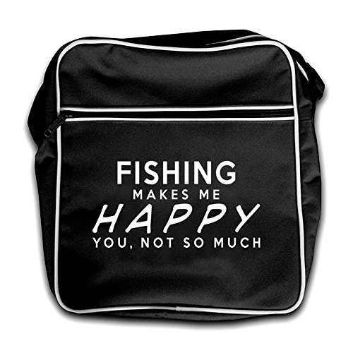 Me Happy Retro Black Makes Fishing Bag Makes Me Happy Red Flight Fishing TYFSX7q