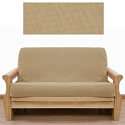 solid tan futon cover queen 413 - Queen Futon Cover