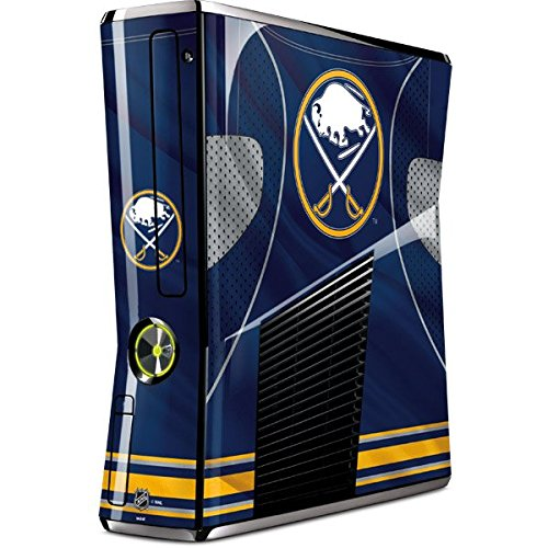 NHL Buffalo Sabres Xbox 360 Slim (2010) Skin - Buffalo Sabres Home Jersey Vinyl Decal Skin For Your Xbox 360 Slim (2010) - 2010 Buffalo