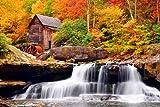 Autumn Mill - Art Print Poster,Wall Decor,Home Decor(36x24 inches)