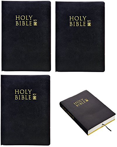 Christmas Catholic Encyclopedia - Holy Bible King James Version KJV with Black Leatherette Cover. Christan and Catholic New & Old Testemant Classic Thumb Index Standard Size. Add Tabs to the Large Print Pages. Christmas Gift Set.