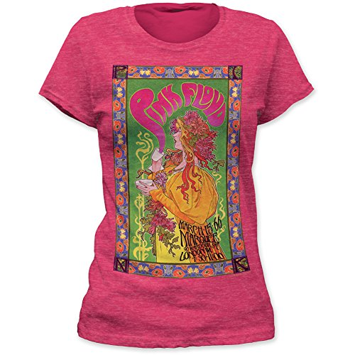 Pink Floyd - Marquee Poster - Womans T-Shirt - Small Pink
