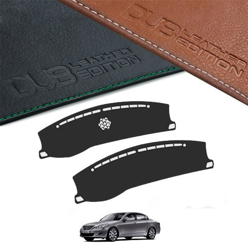 Custom Made Leather Edition Premium Dashboard Cover For Hyundai Genesis 2008 2013 (Black Leather)