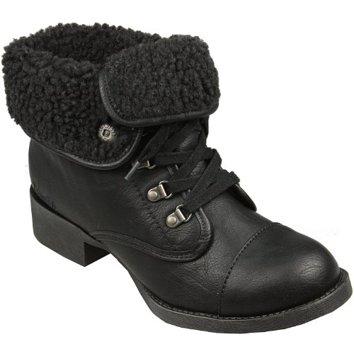 Shearling Boots 6 Womens Karona Black UK Black SEqRf1w4