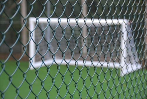 1.5m Tall 25m Roll Chain Link Fencing Green Pvc Coated