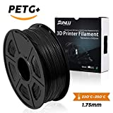 SUNLU 3D Printer Filament,PETG Filament - 1.75 mm Black 1kg Spool (2.2 lbs) - Dimensional Accuracy +/- 0.02mm - 100% Virgin Raw Material