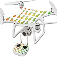 MightySkins Protective Vinyl Skin Decal for DJI Phantom 4 Quadcopter Drone wrap cover sticker skins Rainbow Pineapples