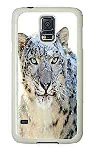 Brian114 Samsung Galaxy S5 Case, S5 Case - Full Body Protective Case for Galaxy S5 Leopard Hard Plastic Covers for Samsung Galaxy S5 White