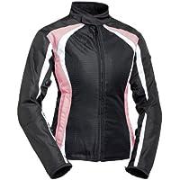 BILT Women's Calypso Mesh Motorcycle Jacket - LG, Pink/Black