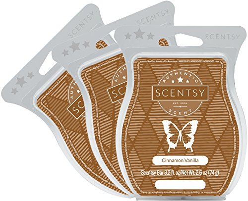 Scentsy, Cinnamon Vanilla, Wickless Candle Tart Warmer Wax 3.2 Oz Bar, 3-pack (3) from Scentsy Fragrance