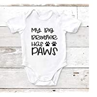 My Big Brother Has Paws, Baby Bodysuit, Custom Baby Shower Newborn Gift, Toddler T Shirt