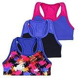 Layla Racerback Crop Top, Gymnastics & Dancewear, Tagless, Wear on Its Own or Layer, 3-Pack, Graffiti, 6