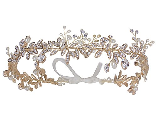 Vijiv Vintage Wedding Accessories Bridal Headpiece Flower Crown Headband Hair Wreath