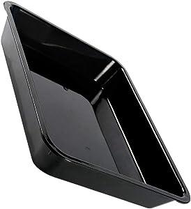 Scicalife Black Plastic Serving Tray Food Platter Rectangular Grilling Prep Serve Trays Commercial Bus Box Meat Defrosting Plate for Home Shop Supermarket 41x31CM