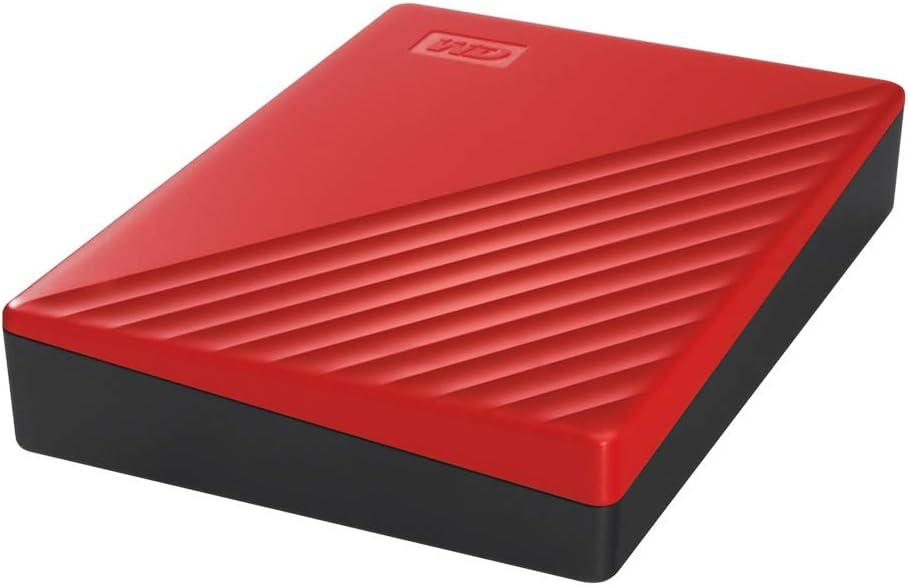Red WD 2TB My Passport Portable External Hard Drive WDBYVG0020BRD-WESN
