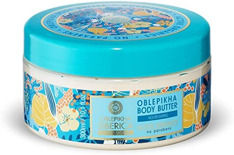 Natura Siberica Oblepikha Body Butter 300ml Nourishing and Moisturizing Altai Sea Buckthorn Oil