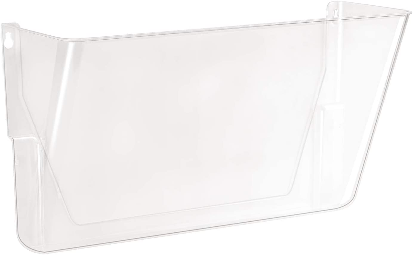 Basics Wall Pocket, Letter, Clear, 1-Pocket : Office Products