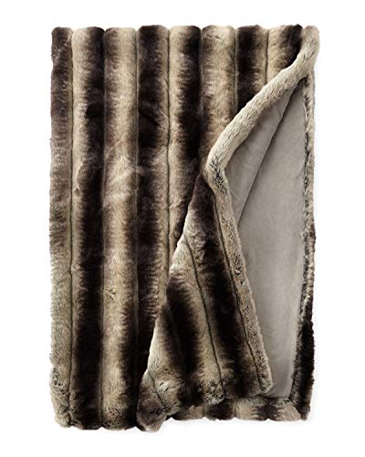 Sweet Dreams Inc. Luxury Chinchilla Faux Fur Throw Coverlet Bedspread - Handcrafted in USA (King)