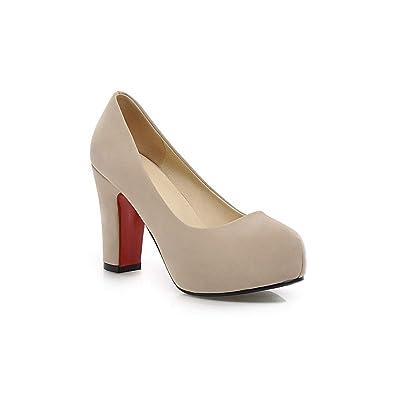 a545d0e7a22e9 Amazon.com | PU Nubuck Leather Shoes Woman Office Party Shoes ...