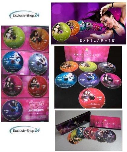 Zumba Fitness Exhilarate Premium version Body Shaping System - Juego de DVD para ejercicio aeróbico (7 discos DVD, no incluye mancuernas tonificadoras): ...