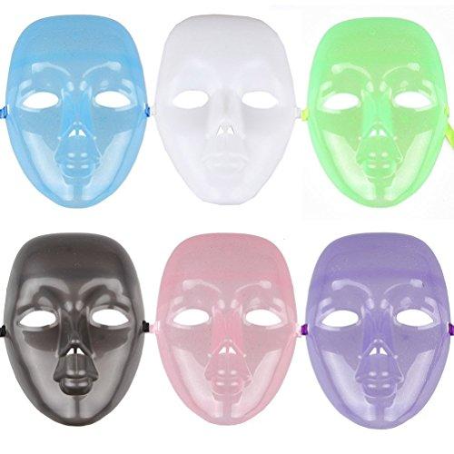 6pcs  (Masquerade Masks Full Face)