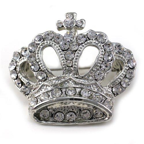 Princess Queen Crown Tiara Christian Cross Brooch Pin Wedding Bridesmaid Clear (Cross Crown Pin)