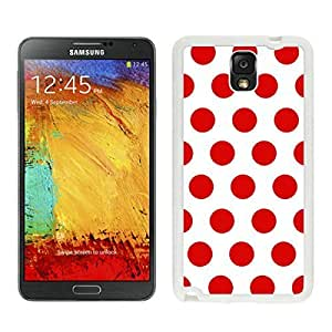 BINGO hot-sale Polka Dot White and Red Samsung Galaxy Note 3 Case White Cover