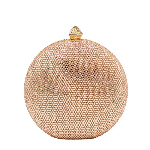 Evening American Clutch WenL Diamond European And Hot ChampagneGold Bag qtxOw4HOp