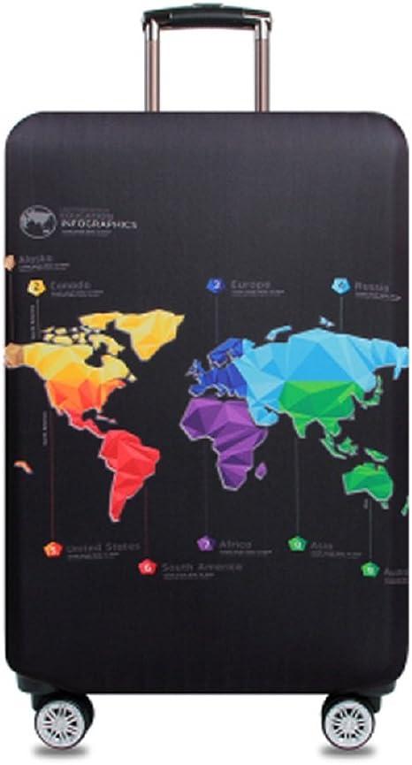 Color 1, S- Bagage de 18 /à 21 Pouces OuLi Store/® Housse de Valise 18-32 Pouces Fibre de Charbon de Bambou Luggage Cover en Polyester Clear Voyage Luggage Trolley Case Cover Protector