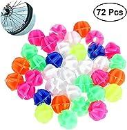 VORCOOL 72PCS Bicycle Wheel Spoke Beads Luminous Clip Spoke Bead Decorations (Mix Color)