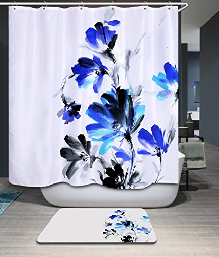 Shower Curtains, Water Color Chrysanthemum