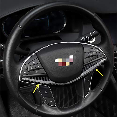 Sport Style Carbon Fiber Print Steering Wheel Trim for Cadillac XT5 CT6 2017 2018 2019