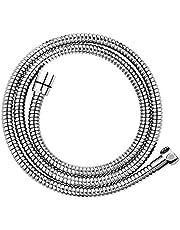 CLOFY hoogwaardige doucheslang doucheslang 1,5 m lang roestvrij staal Metaflex dubbele Lock 1/2, 10 jaar tevredenheidsgarantie, chroom