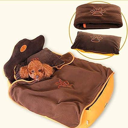 Cama para mascotas, Lavable/Tela + colchón para Perros/Invierno cálido de algodón