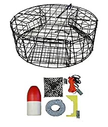 "Kufa Vinyl Coated Round Crab Trap Accessory Kit (100' Lead Corerope, Clipper, Bait Case 14"" Float)"